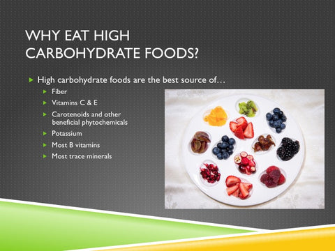 Be Carb Smart PowerPoint and Handout Lesson