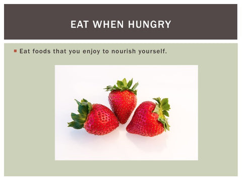Mindful Eating PowerPoint Show