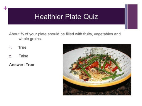 Healthy Plate PowerPoint and Handout Lesson - DOWNLOAD