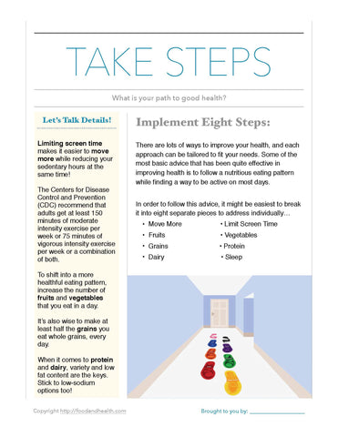 Steps of Health - Floor Decals - Healthy Reminders