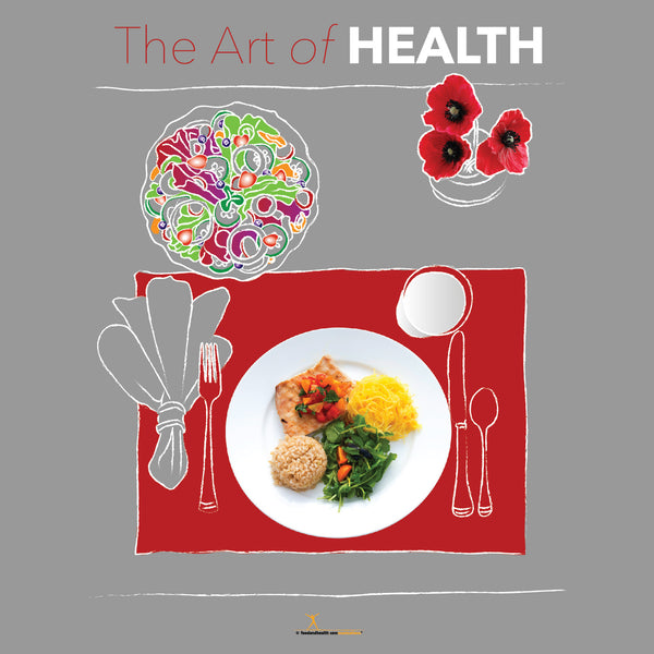 "Art of Health Bulletin Board Banner 24"" x 24"" Square Banner for Bulletin Boards, Walls, and More"