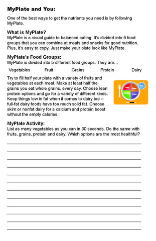 High School and Adult Nutrition Workbook - Pack of 10 - Nutrition Education Store