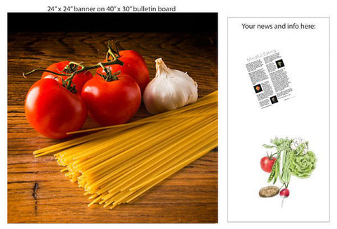 "Pasta 24"" Square Banner for Bulletin Boards and Walls - Nutrition Education Store"