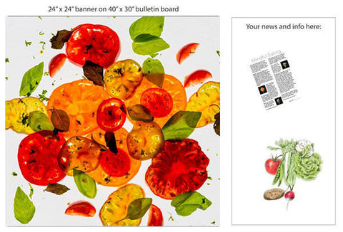 "A Tomato Basil Salad 24"" Square Banner for Bulletin Boards and Walls"