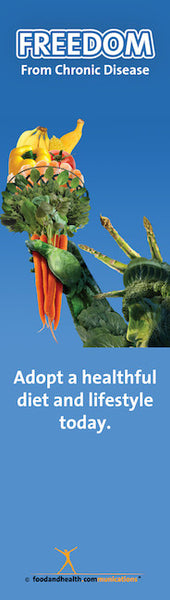 "Freedom from Chronic Disease with Statue of Liberty Bookmarks 2"" X 7"" pack of 50"