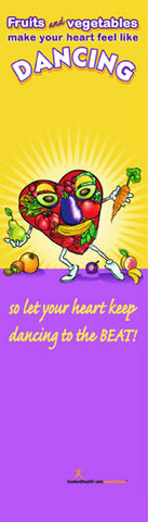"Dancing Heart Bookmarks pack of 50 2""X7"" - Nutrition Education Store"