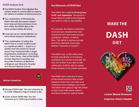 Heart Health Brochure -- Make the DASH - Packet of 25 - Nutrition Education Store