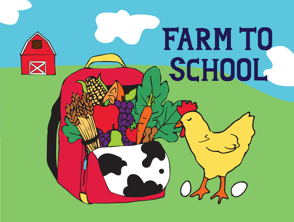 "Farm to School Banner 48"" x 36"" Vinyl"