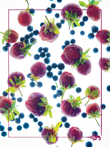 "Fresh Berries 18"" x 24"" Vinyl Wall Decal Poster - Local Foods - Farmer's Market - Fruits"