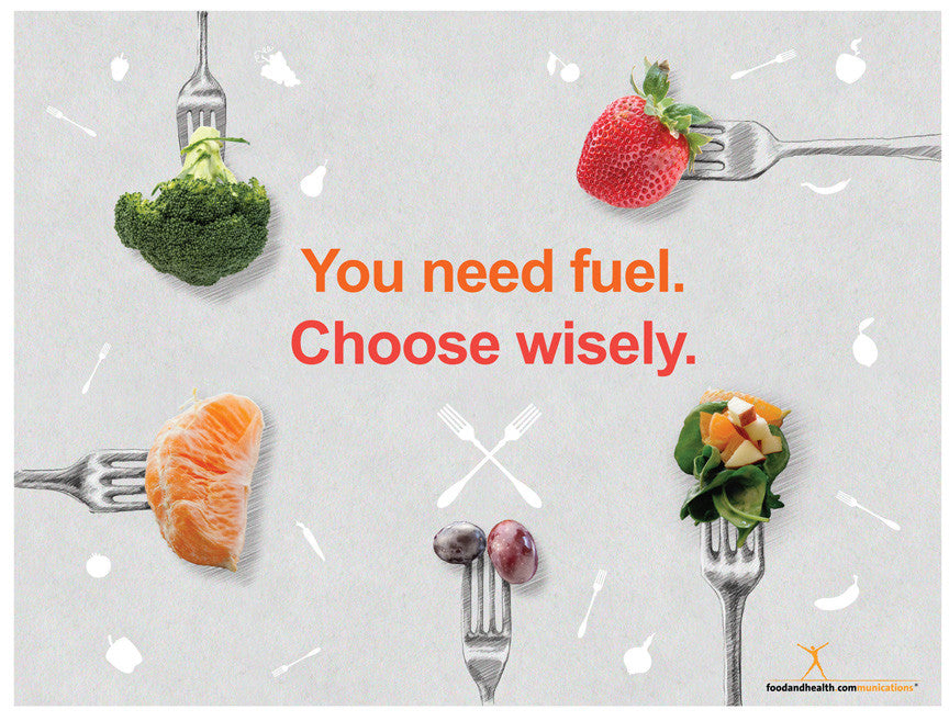 """Custom Fork Banner 48"""" X 36"""" - Add Your Logo To This Health Fair Banner - Nutrition Education Store"""