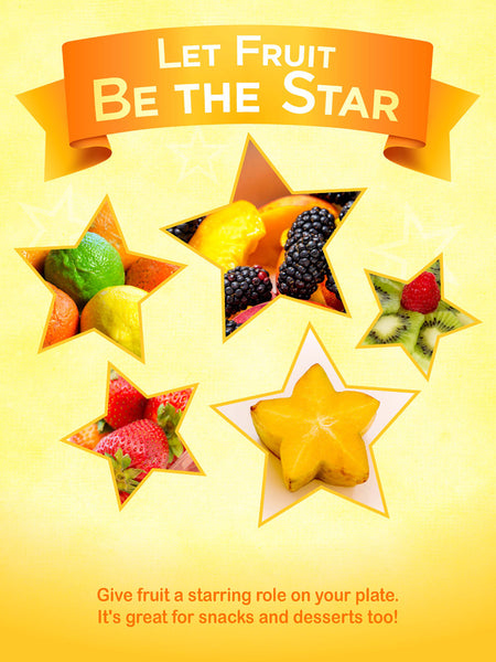 Let Fruit Be The Star Poster 12X18
