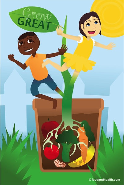 Preschool Nutrition Poster 12X18 Grow Great