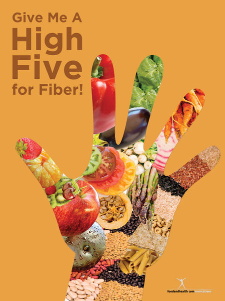 Give Me A High Five for Fiber Poster - Nutrition Education Store