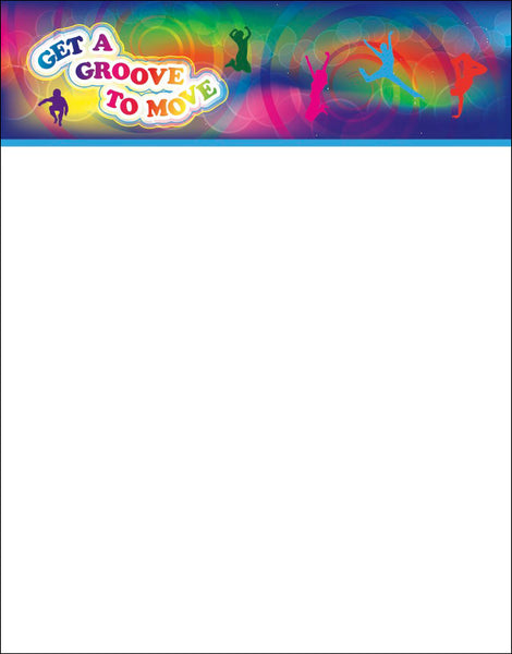 Get A Groove to Move Notepads Pack of 10