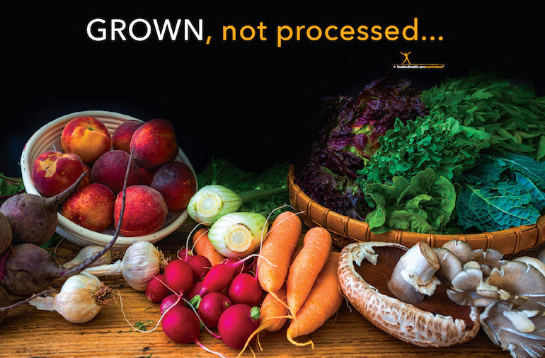 Grown Not Processed Nutrition Poster- Motivational Poster - Nutrition Education Store