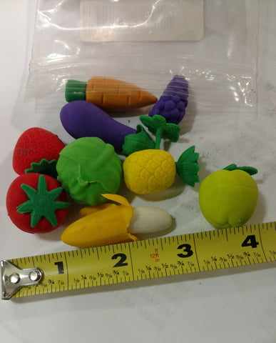 Fruit-Shaped Erasers - Pack of 10 - Nutrition Education Store