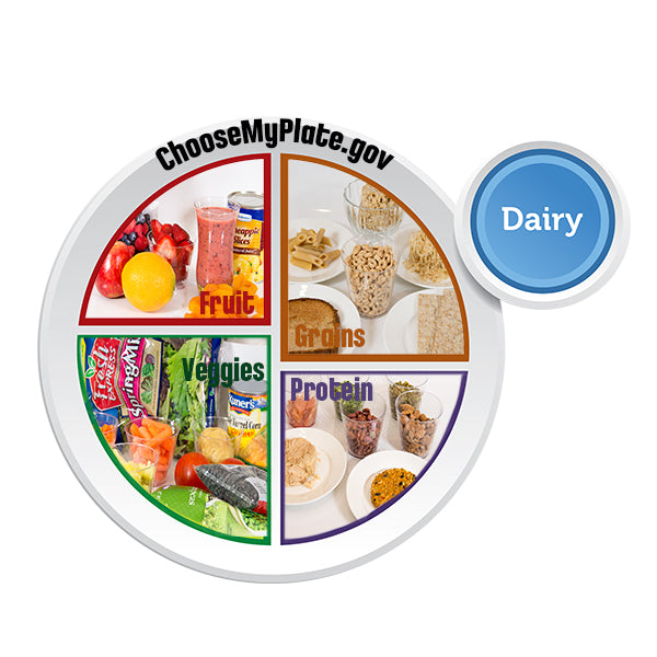 "MyPlate Clear Window Cling 12"" x 12"" - English"
