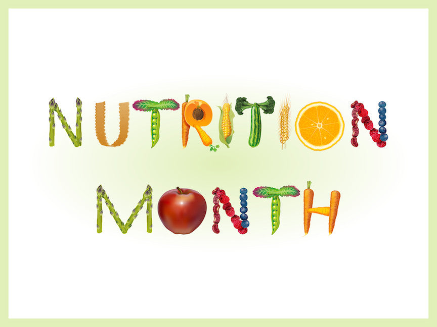 """Nutrition Month Banner 48"""" X 36"""" 