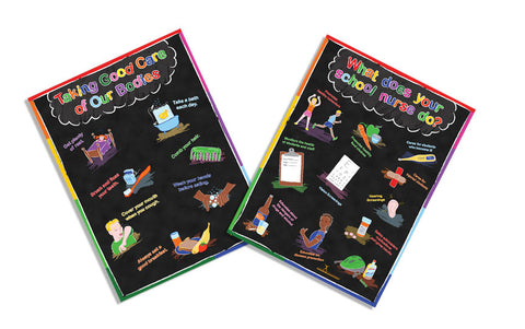 Exam Room School Nurse Poster Package 12x18 - Nutrition Education Store