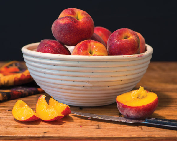 "Art Print 20"" x 16"" Food Photograph ""Peaches Still Life"" on Canvas Foam Board Ready to Hang"