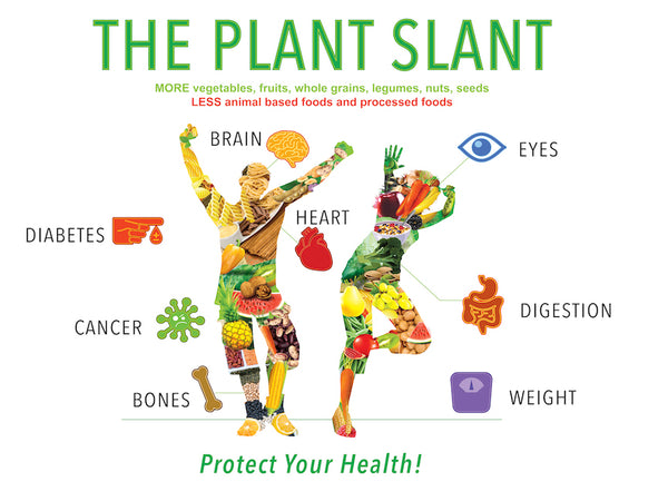 "Plant Slant Vinyl Health Fair Banner 48"" x 36"" - Nutrition Education Store"