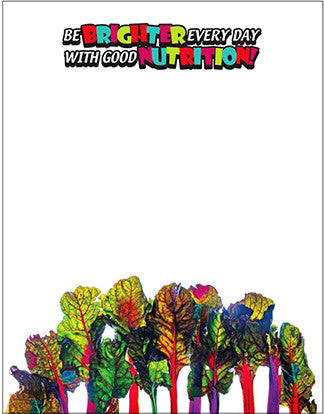 Be Brighter Every Day With Good Nutrition Rainbow Chard Notepads Pack of 10