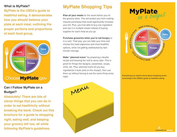 MyPlate On a Budget Brochure Pamphlet - Packets of 25