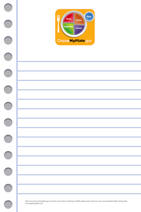 MyPlate Notepads - Pack of 10