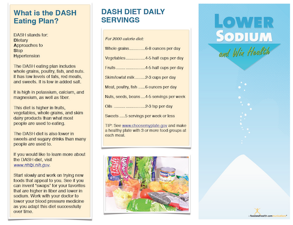 Low Sodium Success Brochure - Packets of 25 - Low Sodium Shopping List