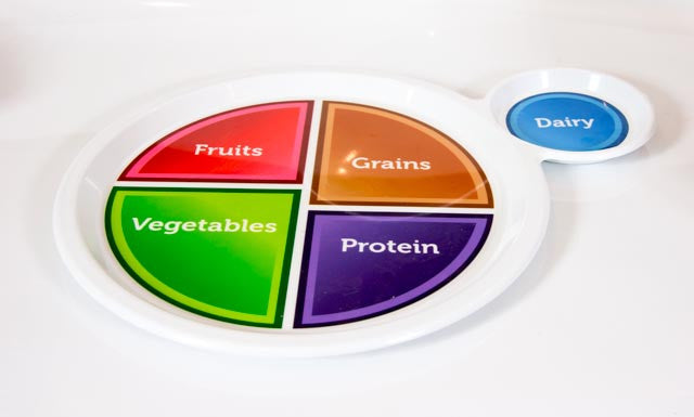 Myplate Plate Plastic 2900 Nutrition Education Store