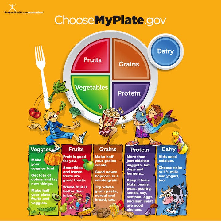 MyPlate for Kids 40X30 Wall Cling