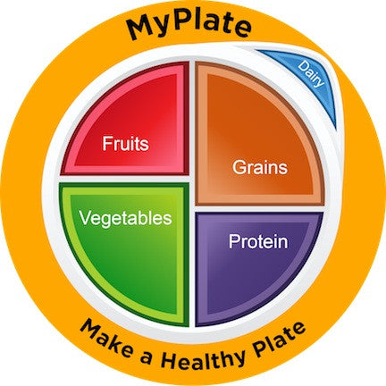 MyPlate Static Clings - Pack of 3 - Nutrition Education Store
