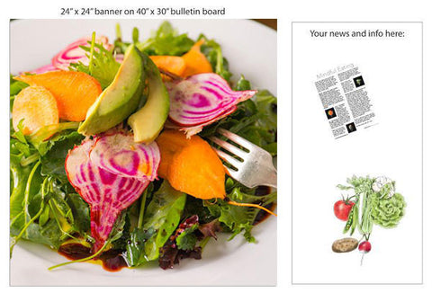 "Root Salad 24"" Square Banner for Bulletin Boards and Walls - Nutrition Education Store"