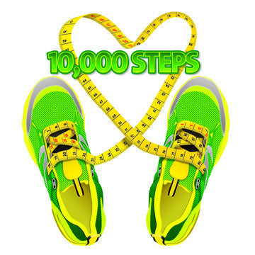 "10K Steps Stickers 2"" X 2"" - Pack of 100 - Nutrition Education Store"