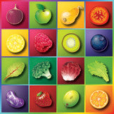 """Color Your World With Food Stickers 2"""" - Pack of 100 - Nutrition Education Store"""