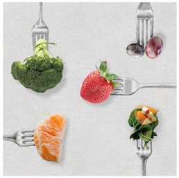 "Fork Stickers 2"" - Pack of 100 - Nutrition Education Store"