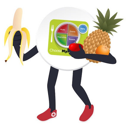 "MyPlate Fruit Stickers 2"" - Pack of 100"