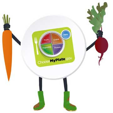 "MyPlate Vegetable Stickers 2"" - Pack of 100"