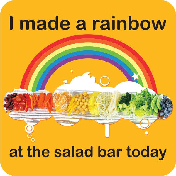 "Rainbow Salad Stickers 2"" - Pack of 100"