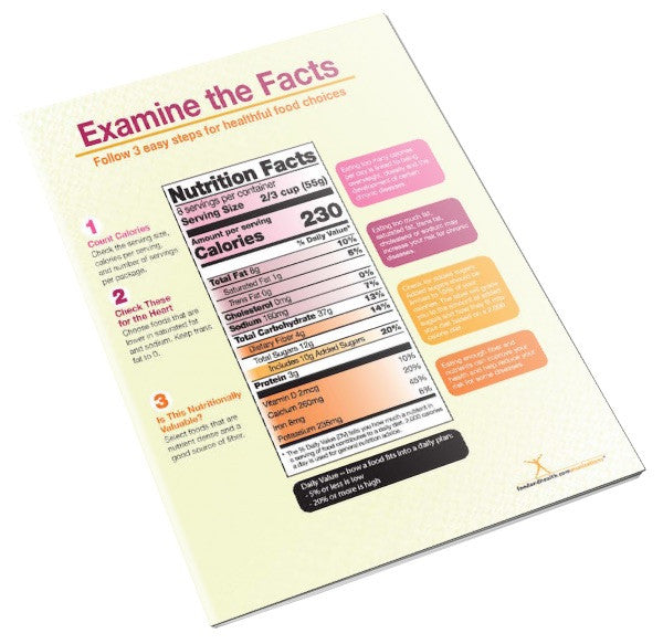 New Food Label Handout - Read Food Label Handout Tearp Pad
