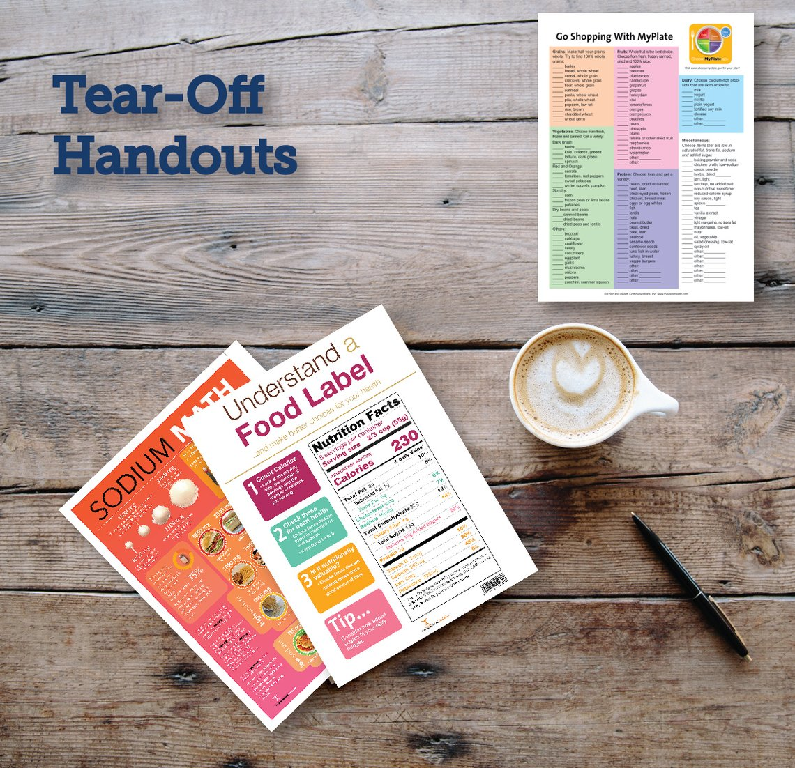 Tearpads and Handouts Nutrition