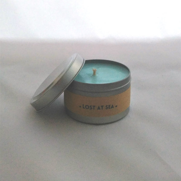 Lost at Sea Travel Tin Candle