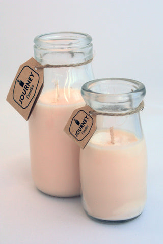 Ay Oak K Milk Bottle Candle