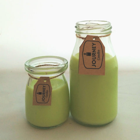 Wild Fuji Milk Bottle Candle