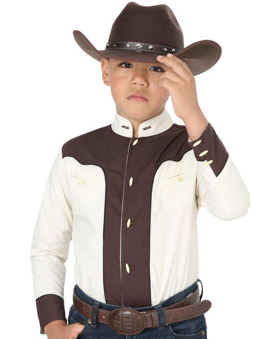 Kids El General Two Tone Charro Shirt