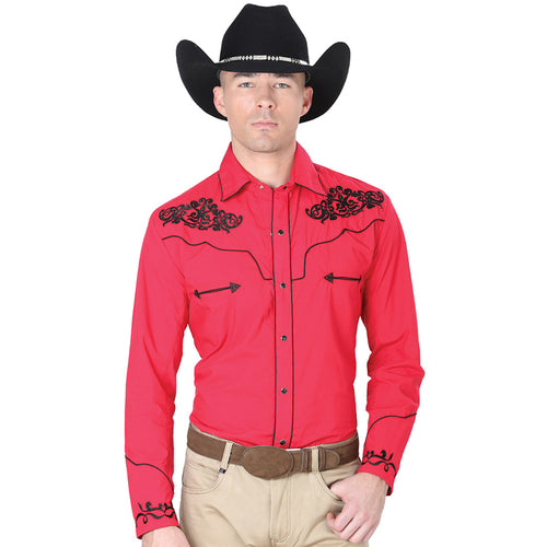 El General Men's Red Charro Western Shirt