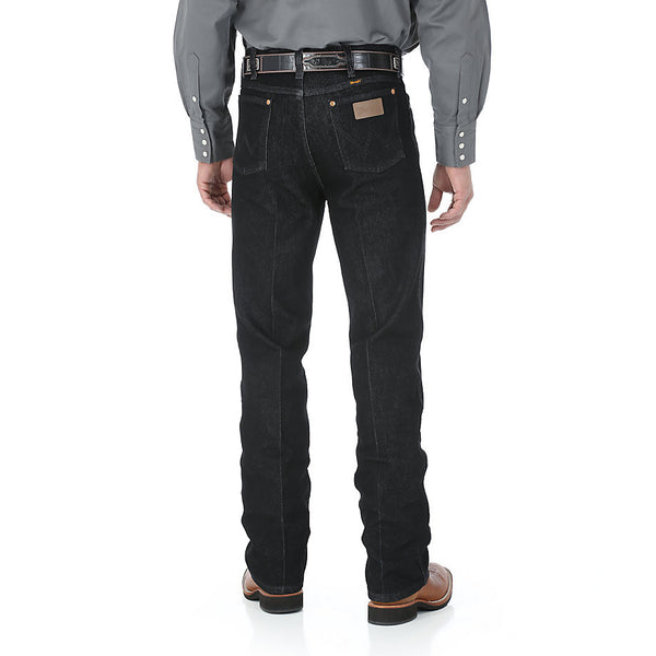 Wrangler Cowboy Cut Stretch Slim Fit Black Jean - VaqueroBoots.com - 3