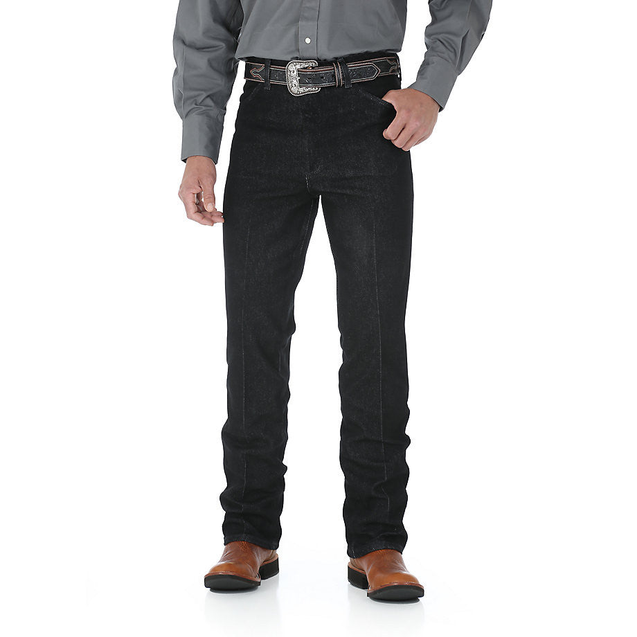 Wrangler Cowboy Cut Stretch Slim Fit Black Jean - VaqueroBoots.com - 1