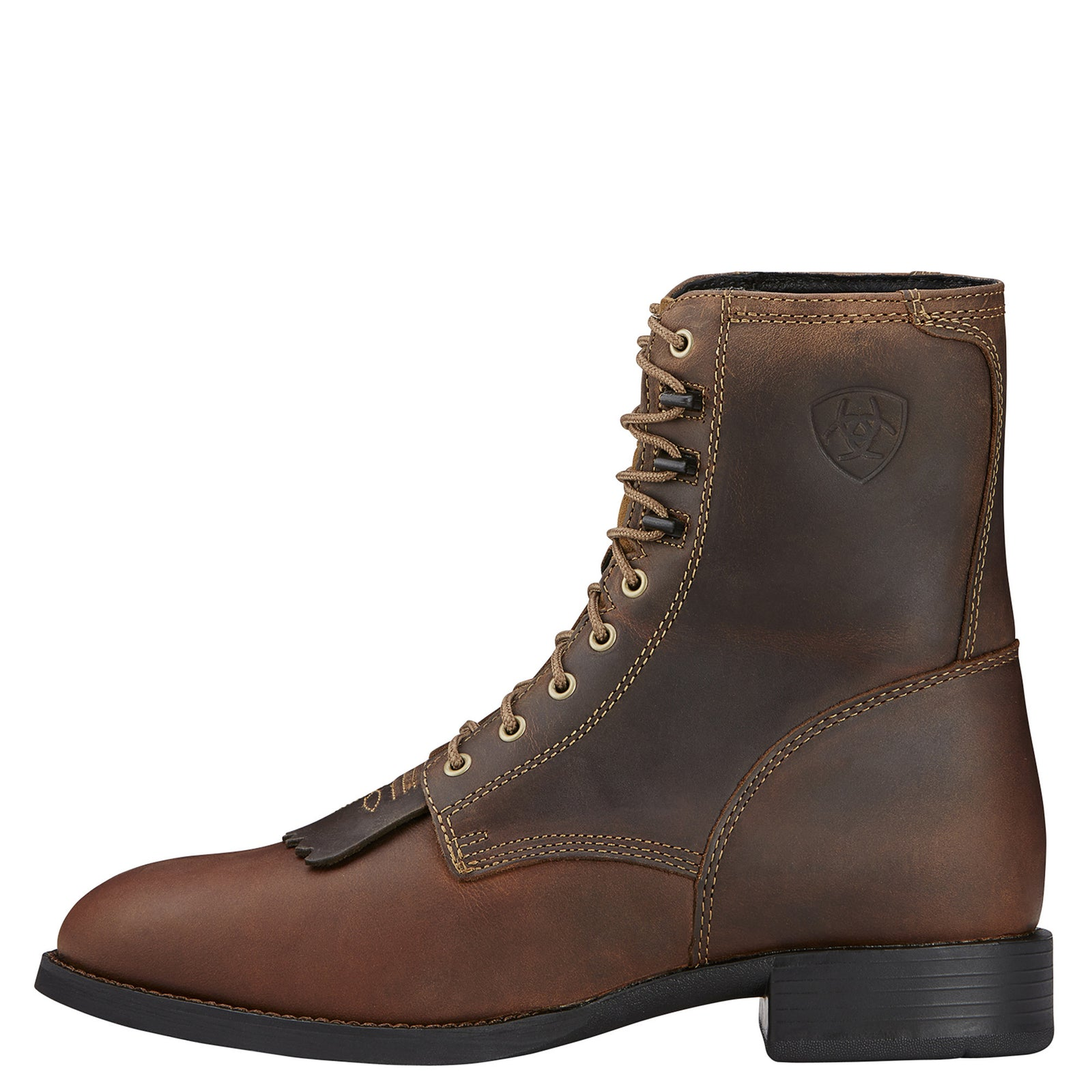 Ariat Men's Herritage Lacer Distressed Brown Boots - VaqueroBoots.com - 3