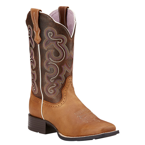 Ariat Women's Quickdraw Square Toe Boot Badlands Brown
